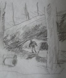 The Woodcutter, sketch